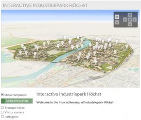 Interactive map of Industriepark Höchst